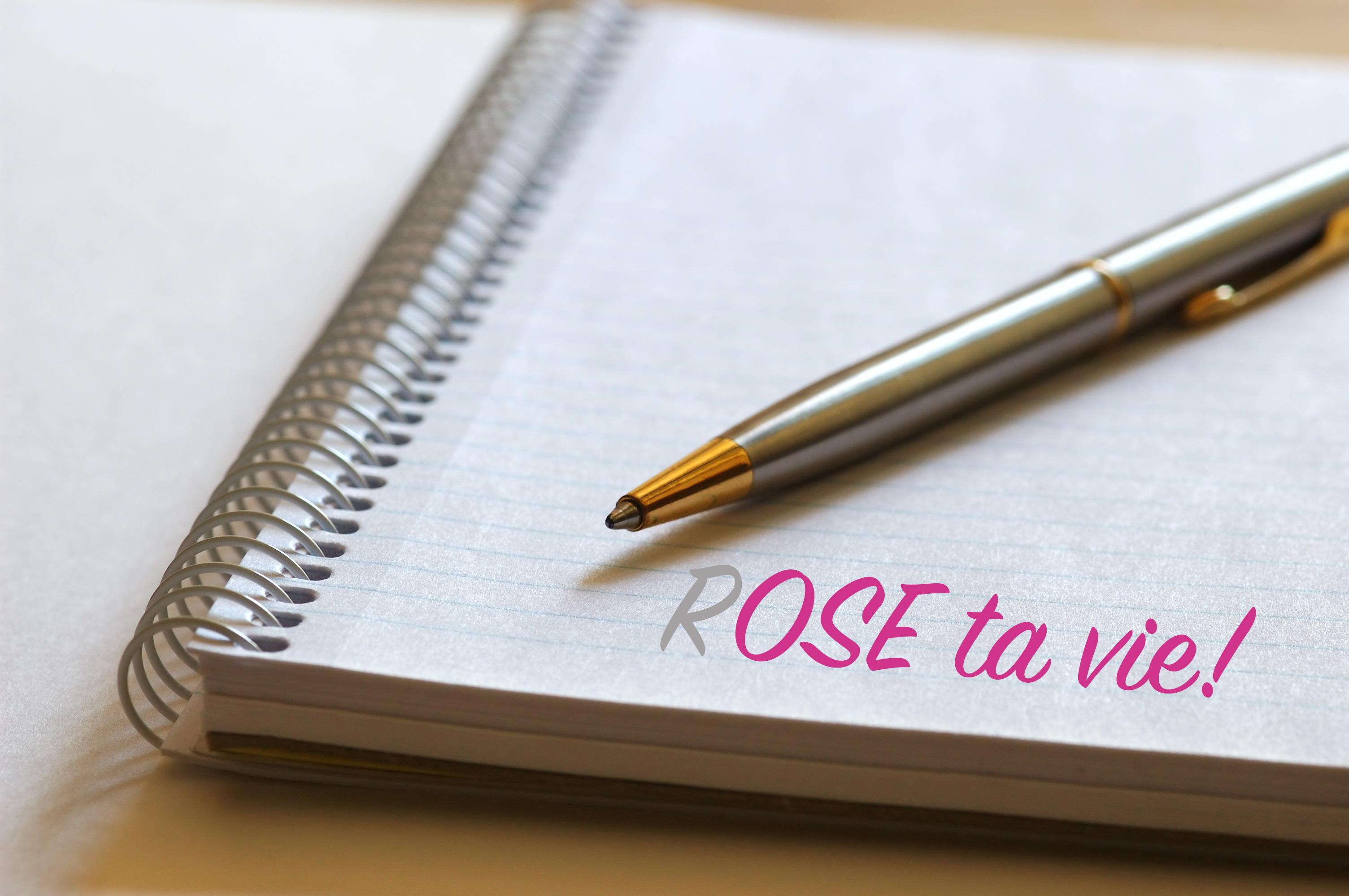 Calepin billet mensuel rose ta vie plus petit