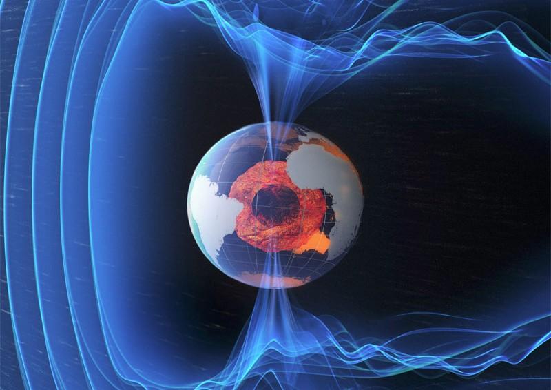 terre champ magnetique